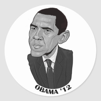 Barack Obama 2012 Round Stickers