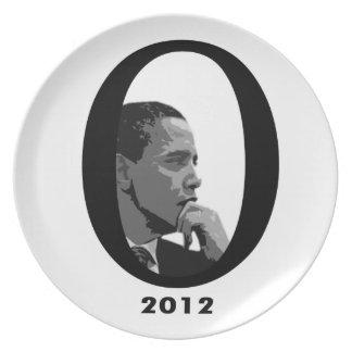 Barack Obama 2012 Stylish Plate