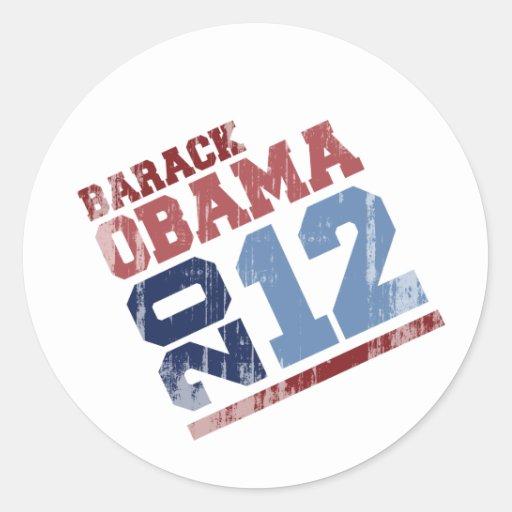 BARACK OBAMA 2012 SWAY Vintage.png Classic Round Sticker
