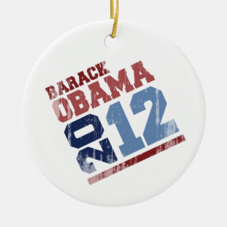 BARACK OBAMA 2012 SWAY Vintage.png Double-Sided Ceramic Round Christmas Ornament