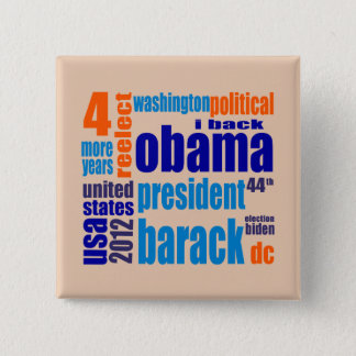 Barack Obama 2012 Tag Cloud Button