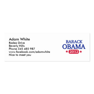 Barack Obama 2012 Tarjetas De Visita
