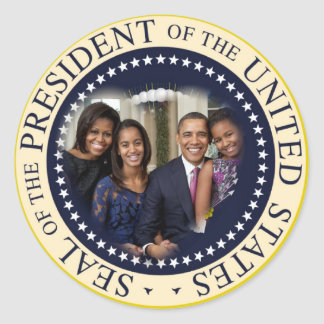 Barack Obama 2012 US President Classic Round Sticker