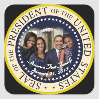 Barack Obama 2012 US President Square Sticker