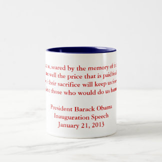 Barack Obama 2013 Inauguration Speech Coffee Mugs