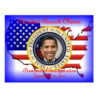 Barack Obama 2013 Presidential Inauguration Postcard