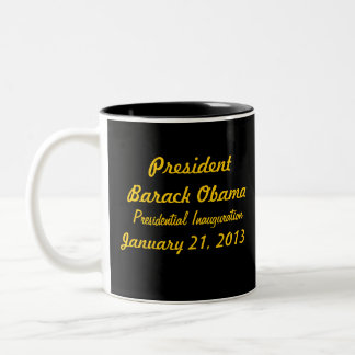 Barack Obama 2013 Presidential Inauguration Two-Tone Coffee Mug