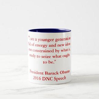 Barack Obama 2016 DNC Speech Two-Tone Coffee Mug