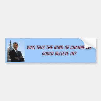 barack_obama_2, era éste la clase de cambio nosotr pegatina para auto