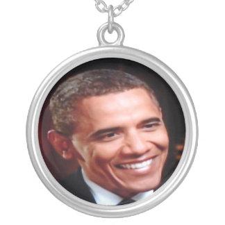 Barack Obama 3D inaugural, 2do término conmemorati Collar Plateado