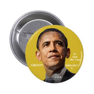 Barack Obama 44th POTUS 2009-2017 (Faux) Gold Coin Button