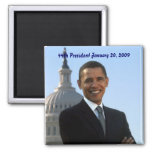 barack-obama 44th President 2 Inch Square Magnet