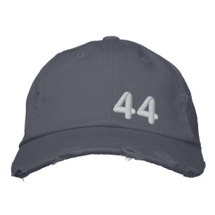 766b0852c73 Barack Obama 44th President Blue Destroyed Embroidered Baseball Cap