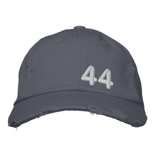 Barack Obama 44th President Blue Destroyed Embroidered Hats