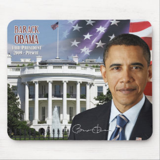 Barack Obama - 44th President of the U S Mouse Pads