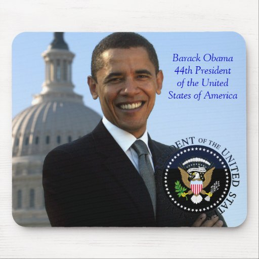 Barack Obama 44th President of the USA Mouse Mats
