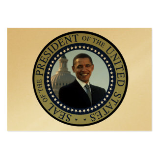 Barack Obama 44th President of the USA Seal Blue Large Business Card
