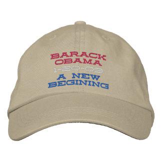 BARACK OBAMA  A NEW BEGINING EMBROIDERED BASEBALL CAP