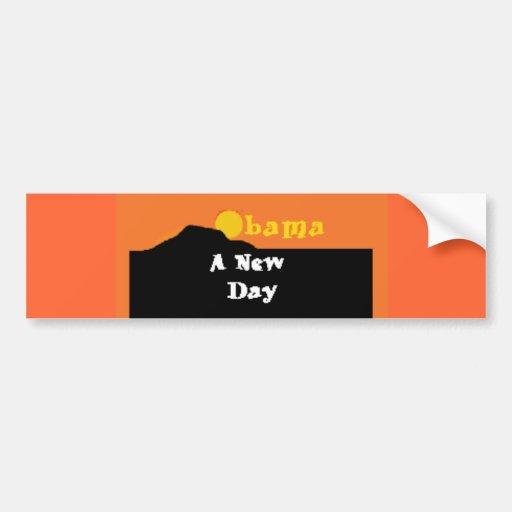 Barack Obama A New Day Bumper Sticker