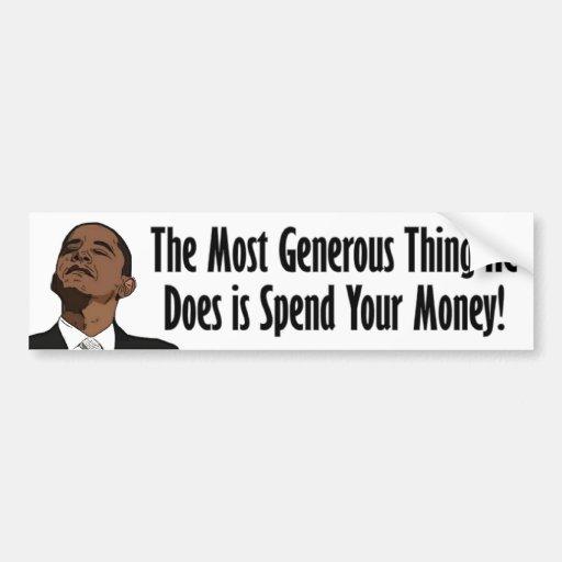 ¿Barack Obama - abundante? Etiqueta De Parachoque