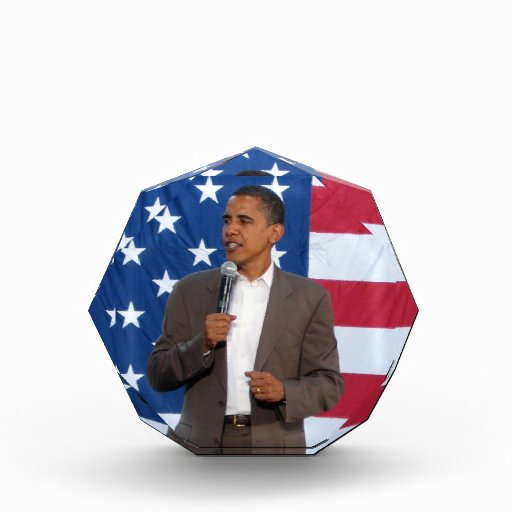 Barack Obama Acrylic Award