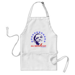 Barack Obama All Show No Go Adult Apron