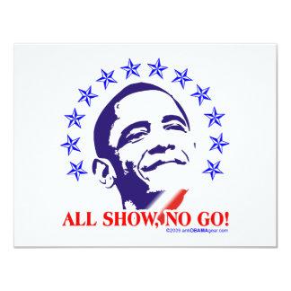 Barack Obama All Show No Go Card