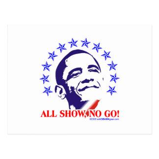 Barack Obama All Show No Go Postcard