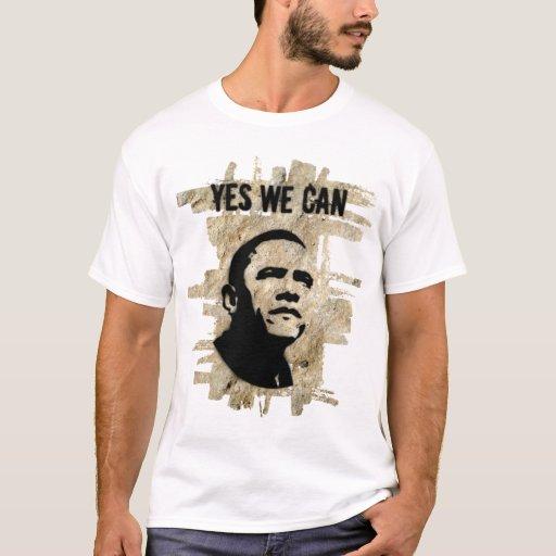 Barack Obama (ambos lados) - oscile la plantilla Playera