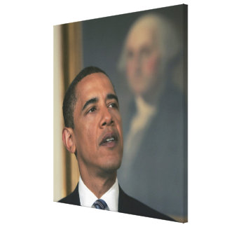 Barack Obama announce his intent to nominate Canvas Print