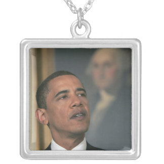 Barack Obama announce his intent to nominate Silver Plated Necklace