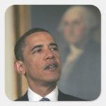 Barack Obama announce his intent to nominate Square Sticker