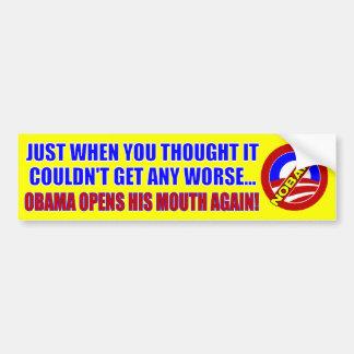 Barack Obama anti Etiqueta De Parachoque