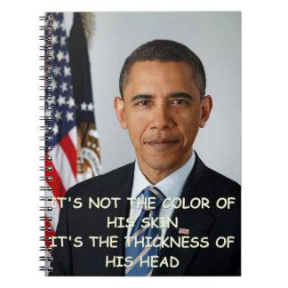 Barack Obama anti Libro De Apuntes Con Espiral