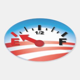 Barack Obama anti - vacie Pegatina Ovalada