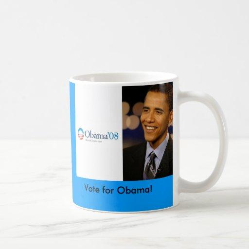 Barack Obama '08 Desktop Wallpaper, Vote f... Coffee Mug