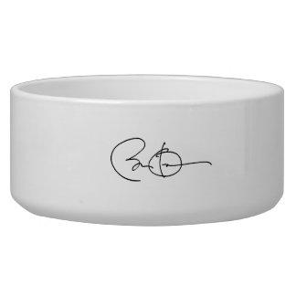 Barack Obama Autograph Dog Food Bowls
