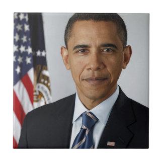 Barack Obama Azulejo Cuadrado Pequeño