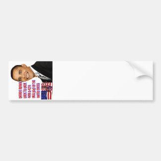 Barack Obama,Back To Back_ Bumper Sticker