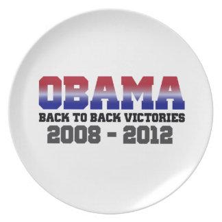 Barack Obama Back-to-Back Victory 2008 - 2012 Melamine Plate