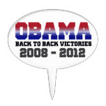 Barack Obama Back-to-Back Victory Items Oval Cake Toppers