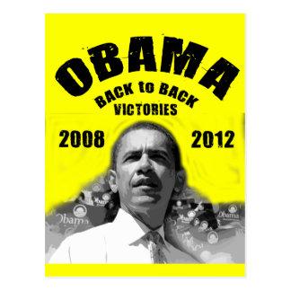 Barack Obama Back-to-Back Victory Items Postcard
