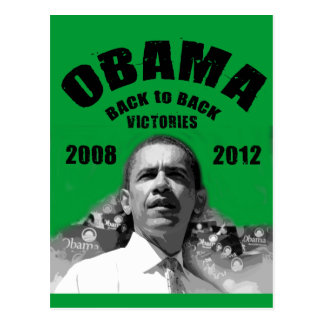 Barack Obama Back-to-Back Victory Items Postcard