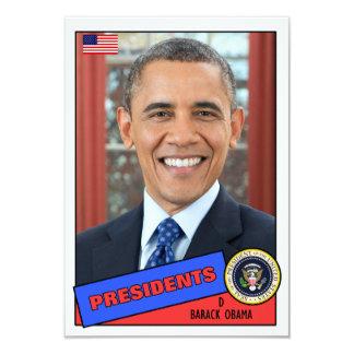 """Barack Obama Baseball Card 3.5"""" X 5"""" Invitation Card"""