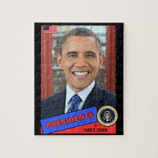 Barack Obama Baseball Card Puzzles