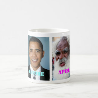 Barack Obama before and after the presidency Classic White Coffee Mug
