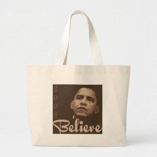 Barack Obama Believe Canvas Tote Bag