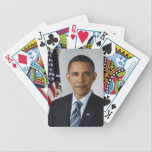 "Barack Obama Bicycle Playing Cards<br><div class=""desc"">Picture of Barack Obama taken by Pete Souza,  The Obama-Biden Transition Project</div>"