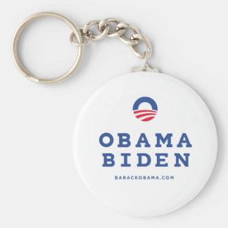 "Barack Obama Biden 2012 con el logotipo de ""O"" Llavero Redondo Tipo Pin"