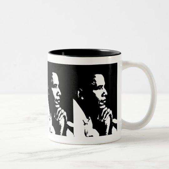 Barack Obama Black & White Profile Cup